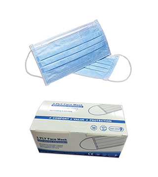 3-Ply Disposable Surgical Masks - Case of 2000